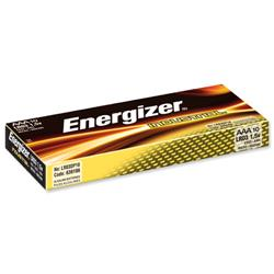 Energizer Industrial Battery Long Life LR03 1.5V AAA Ref 636106 - Pack 10