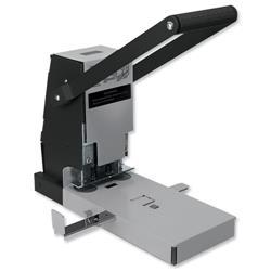 Rapesco 2160 Heavy Duty Metal 2 Hole Power Punch 300 Sheet Capacity Lockable Guage Paper Compressor Ref 2160