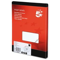 5 Star Office Addressing Labels Inkjet 16 per Sheet 99.1x34mm White [1600 Labels]