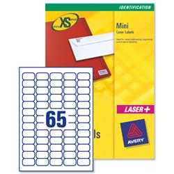 Avery J8651 Inkjet Mini Labels 38.1x21.2mm White Ref J8651-100 - Pack 6500