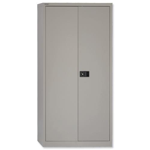 Trexus Two Door Steel Storage Cupboard 914x400x1806mm Grey Ref