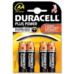 Duracell Plus Battery Alkaline 1.5V AA Ref MN1500B4 - Pack 4