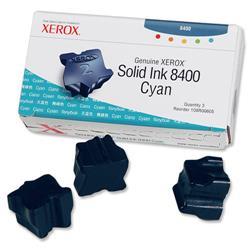 Xerox Genuine Phaser 8400 Cyan Solid Ink Sticks (Three Sticks) Ref 108R00605