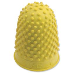 Quality Rubber Cone Thimblette Size 2 Yellow Ref 265494 - Pack 10