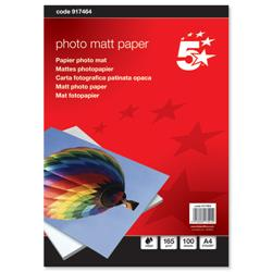 5 Star Office Inkjet Paper Matt 165gsm A4 White [100 Sheets]