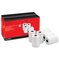 5 Star Office Thermal Printer Rolls Single-ply W57xD38xCore12.7mm 18m [Pack 20]