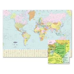 Map Marketing World Political Map Unframed 760x1200mm Ref BEX