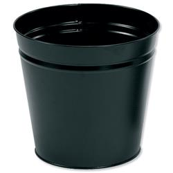 5 Star Office Waste Bin Round Metal Scratch Resistant D300xH280mm 15 Litres Black