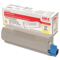 OKI Yellow Laser Toner Cartridge for C5550 MFP/C5800/C5900 Ref 43324421