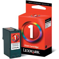 Lexmark No. 1 Colour Inkjet Cartridge Ref 18CX781E
