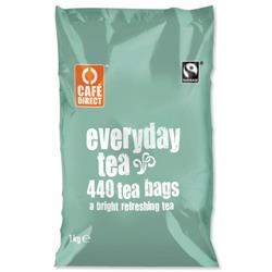 Cafe Direct Teabags Fairtrade Everyday Tea Ref A06634 - Pack 440