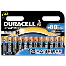 Duracell Ultra Power MX1500 Battery Alkaline 1.5V AA Ref 81235502 - Pack 12