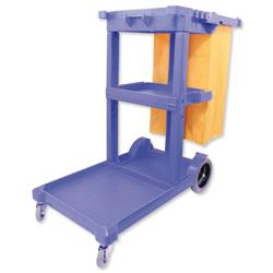 Mobile Janitorial Trolley Multifunctional Supplied Unassembled W460xD1140xH970mm