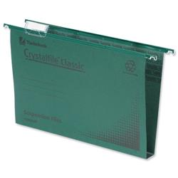 Rexel Crystalfile Classic Suspension File Manilla 50mm Foolscap Green Ref 71750 - Pack 50