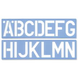 Writing Set of Letters Numbers and £/p Symbols 75mm for Upper Case 6-piece