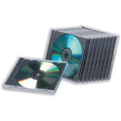 CD Case Standard Jewel High Impact Protection for 1 Disk Clear [Pack 10]