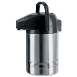 Pump Pot Stainless Steel with Pouring Lock Retains Heat 8 hours 2 Litre