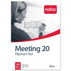 Nobo Meeting Flipchart Pad Perforated 70gsm 20 Sheets A1 Plain Ref 34633698 [Pack 5]