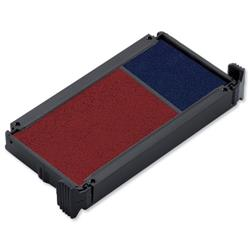 Trodat Replacement Ink Pad 649122 Red/Blue Ref 83541 - Pack 2