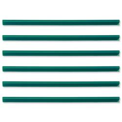 Spine Bars for 60 Sheets A4 Capacity 6mm Green - Pack 50