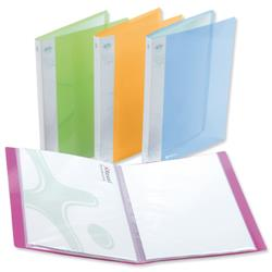 Rexel Ice Display Book Polypropylene 40 Pockets A4 Assorted Translucent Covers Ref 2102040 [Pack 10]
