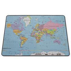 Durable World Map Desk Mat PVC Non-slip Base 530x400 Ref 7211/19