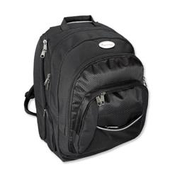 Lightpak Advantage Backpack Nylon with Detachable Laptop Sleeve Capacity 17in Black Ref 46090