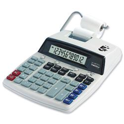 5 Star Office Calculator Desktop Printing VFD 12 Digit 2.7 Lines/sec