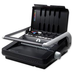 GBC CombBind C340 Comb Binding Machine Manual Binds up to 450 Sheets Punches up to 25 Sheets A4 Ref 4400420