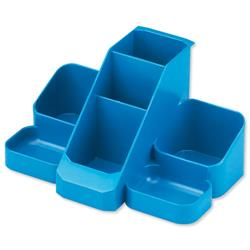 Avery Basics Desk Tidy 7 Compartments W164xD116xH85mm Blue Ref 1137BLUE