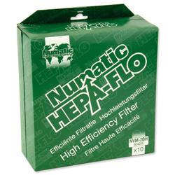 Numatic Replacement Bags Hepa-Flo for Vacuum Cleaners Charles and George Ref NVM2BH - Pack 10