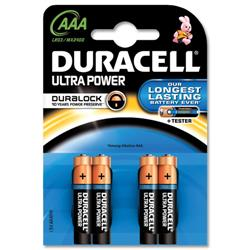 Duracell Ultra Power MX2400 AAA Battery Ref 81235511 - Pack 4