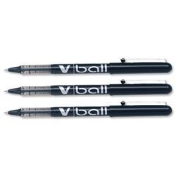 Pilot VB7 Rollerball Pen 0.7mm Tip 0.5mm Line Black Ref BLVB701 - Pack 12