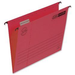 Elba Verticfile Ultimate Suspension File Manilla 240gsm Foolscap Red Ref 100331172 - Pack 25