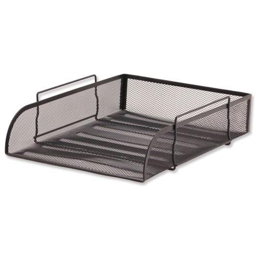 Design Ideas Mesh Letter Tray: Letter Tray Mesh Scratch-resistant Stackable Front-load