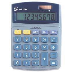 5 Star Office Calculator Desktop Battery/Solar-power 10 Digit 3 Key Memory