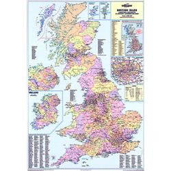 Map Marketing Counties Districts & Unitary Authorities Map Unframed 1200x830mm Ref BIC