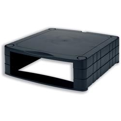 Monitor Screen Riser 34-100mm Storage Stackable 20kg Load Black