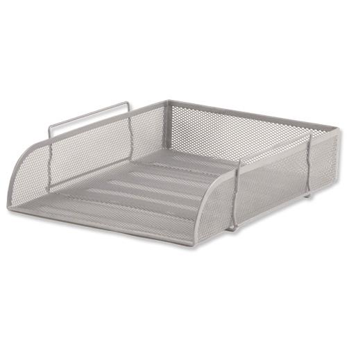 Design Ideas Mesh Letter Tray: Mesh Letter Tray Scratch Resistant Stackable Front Load
