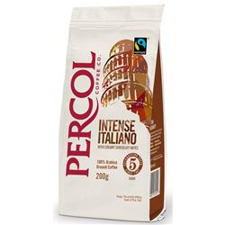 Percol Fairtrade Italiano Ground Coffee Organic Medium Roasted 227g Ref 0403244