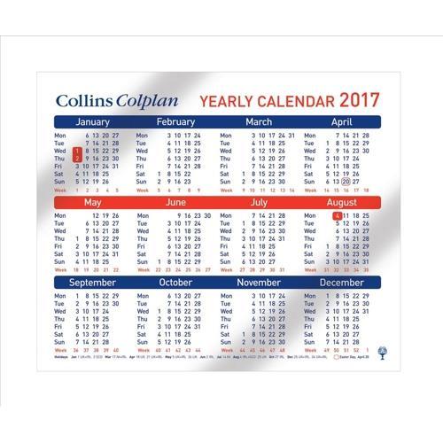 Year Calendar Buy : Buy collins colplan yearly calendar mm ref cds