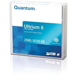 Quantum Ultrium LTO6 BaFe Data Tape 2.50TB N/ 6.25TB C Ref MR-L6MQN-01S