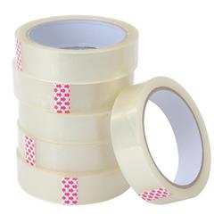 5 Star Value Clear Tape 25mmx66m Polypropylene [Pack 6]