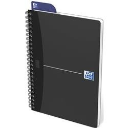 Oxford Metallics Notebook Wirebound Polypropylene Ruled 180pp 90gsm A5 Grey Ref 400051962 [Pack 5]