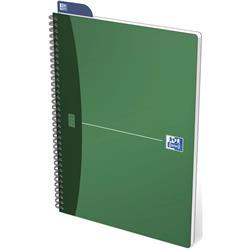 Oxford Metallics Notebook Wirebound Polypropylene Ruled 180pp 90gsm A4 Green Ref 400051873 [Pack 5]