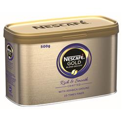 Nescafe Gold Blend Instant Coffee Decaffeinated Tin 500g Ref 12284222