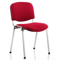ISO Stacking Chair Stackable Pre-assembled Fabric Red Ref BR000299