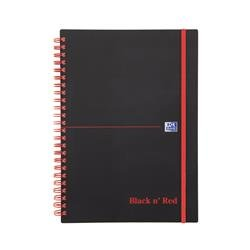 Black n Red Notebook Wirebound Polypropylene 90gsm Ruled 140pp A5 Ref 100080140 - Pack 5