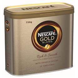 Nescafe Gold Blend Instant Coffee Tin 750g Ref 12339209 - 2 Free Nestle Mini Breaks when you buy 2 Nescafe tins