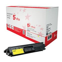5 Star Office Remanufactured Laser Toner Cartridge Page Life 3500pp Yellow [Brother TN326Y Alternative]